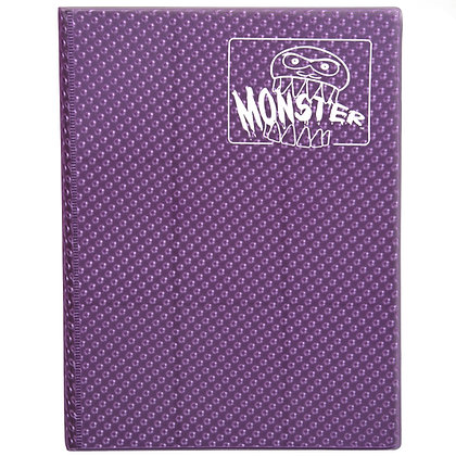 4 Pocket Holofoil Purple Card Binder