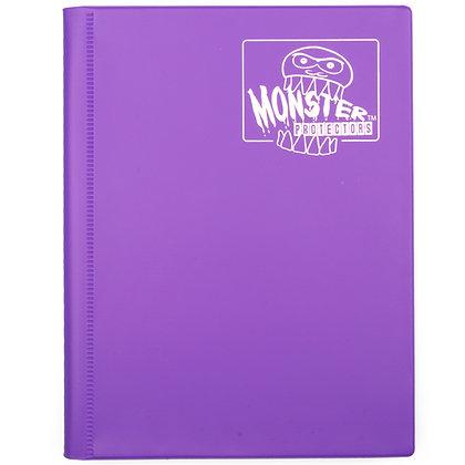 4 Pocket Matte Purple Card Binder
