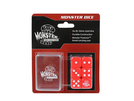 6 pk Dice w/Carrying Case -Red