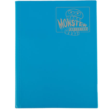 9 Pocket Matte Blue Card Binder