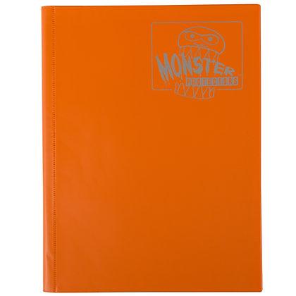 9 Pocket Matte Orange Card Binder