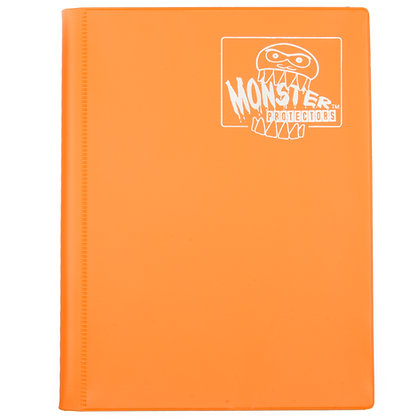 4 Pocket Matte Orange Card Binder