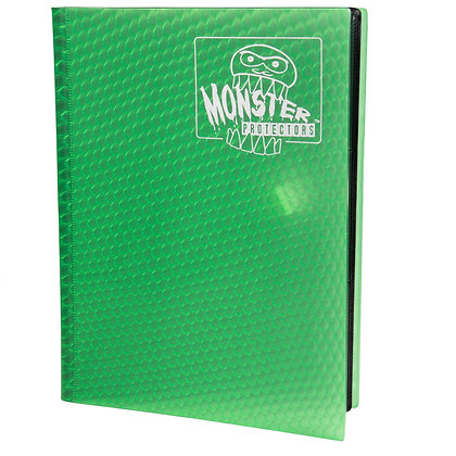 9 Pocket Holofoil Green Card Binder