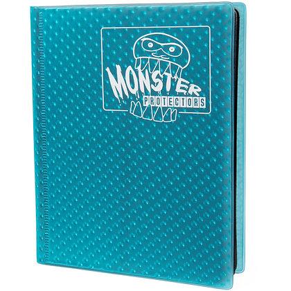 4 Pocket Holofoil Aqua Blue Card Binder