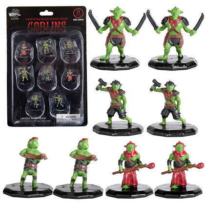 Painted Goblins DnD Miniatures 8pk