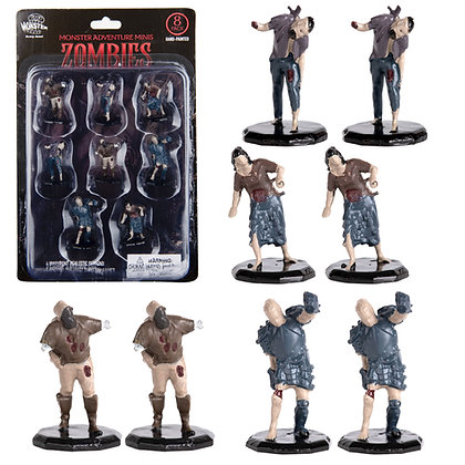Painted Zombies DnD Miniatures 8pk