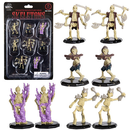 Painted Skeletons DnD Miniatures 8pk