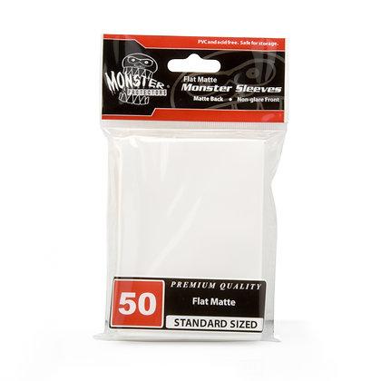 Standard Flat Matte Sleeves White