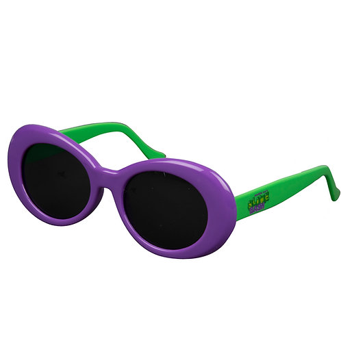 Slime Bash Purple & Green Clout Glasses