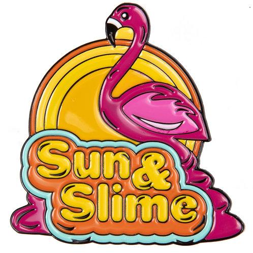 Jumbo Sun & Slime Flamingo Pin