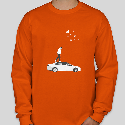 Familiar Long Sleeve T-Shirt - Orange