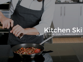What kitchen skills can my group expect to learn from a Culinary Team Building Activity: Part 2