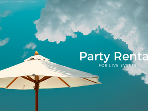 Party Rentals for Live Events