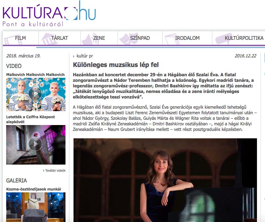 Kultura.hu article