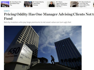 WSJ: Pricing Oddity Has One Manager Advising Clients Not to Buy His Fund