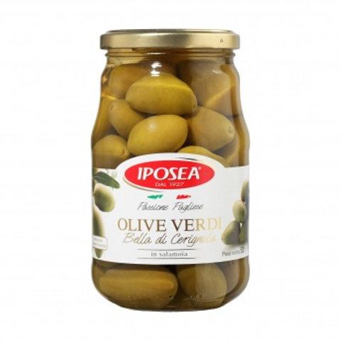 Оливки гигантские Bella Ceringola, с косточкой, 530гр.