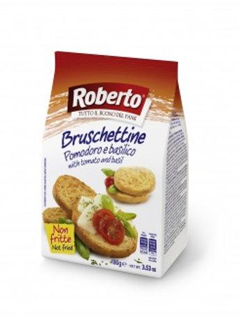 Хрустящие хлебцы Брускеттине со вкусом томата и базилика, 100гр
