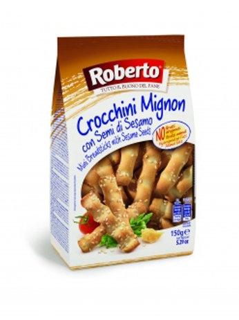 Палочки хлебные с кунжутом Гриссини Кроккини, 150гр