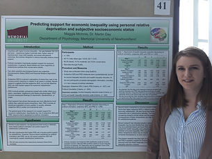 Maggie at Psychology Research Day