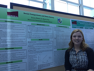 Emma at Psychology Research Day