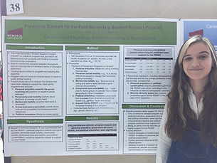 Olivia at Psychology Research Day