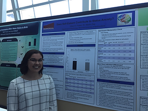 Hilary at Psychology Research Day