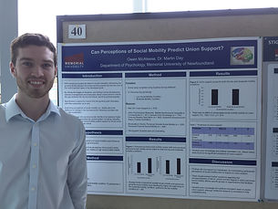 Owen at Psychology Research Day