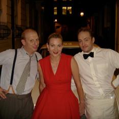 With Sara Stewart and Derren Brown on se