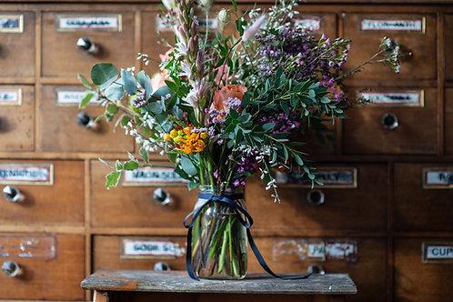 Luxe Jam Jar Flowers