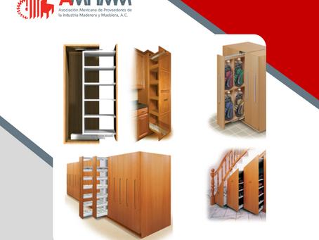 Sistema de correderas extraibles para muebles verticales
