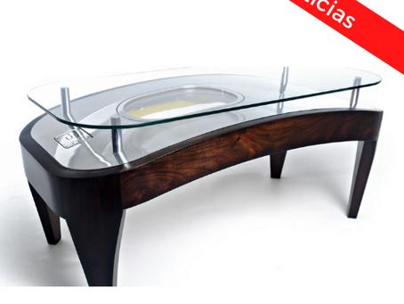 Lo nuevo: muebles hechos de partes de avión