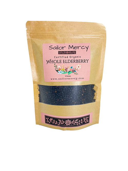 Whole Dried Elderberry 8oz