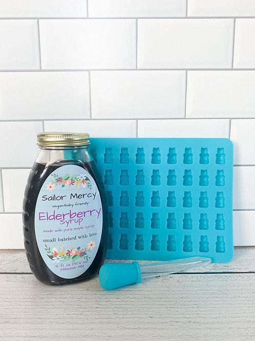 Vegan Elderberry Syrup w/DIY Gummy Mold