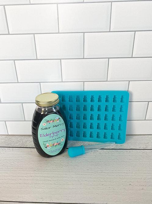 Traditional Elderberry Syrup w/DIY Gummy Mold