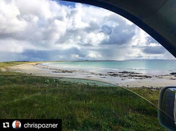 Nice view at Crossapol yesterday #tiree ☀️😎_._