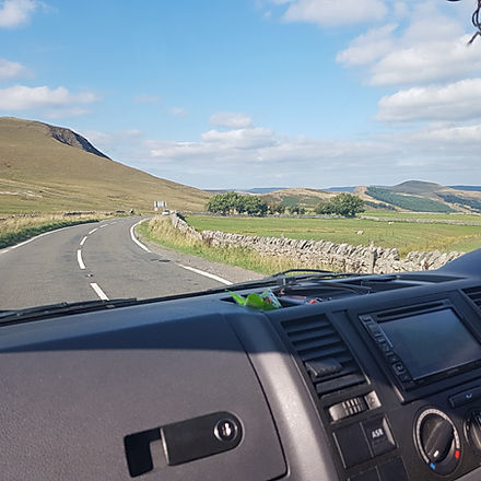 driving our campervan in the Lake District
