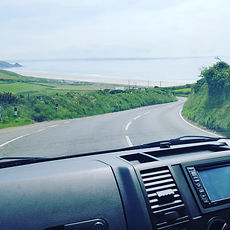 driving in the campervan