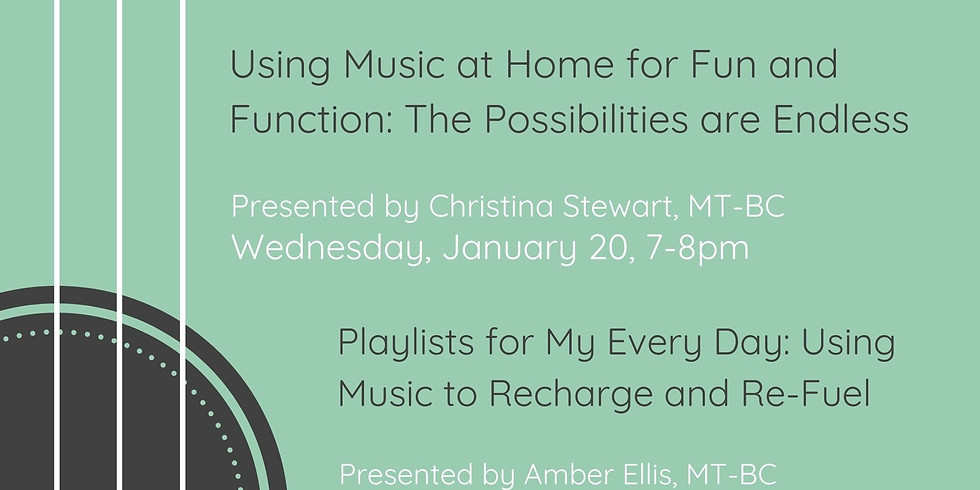 Using Music at Home for Fun & Function: the Possibilities are Endless!