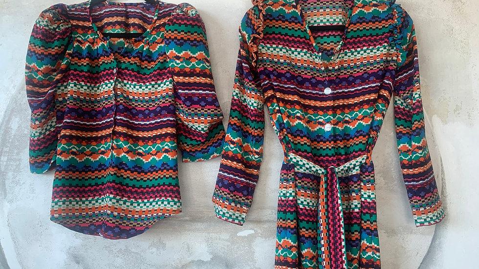 vestido y camisa Africam