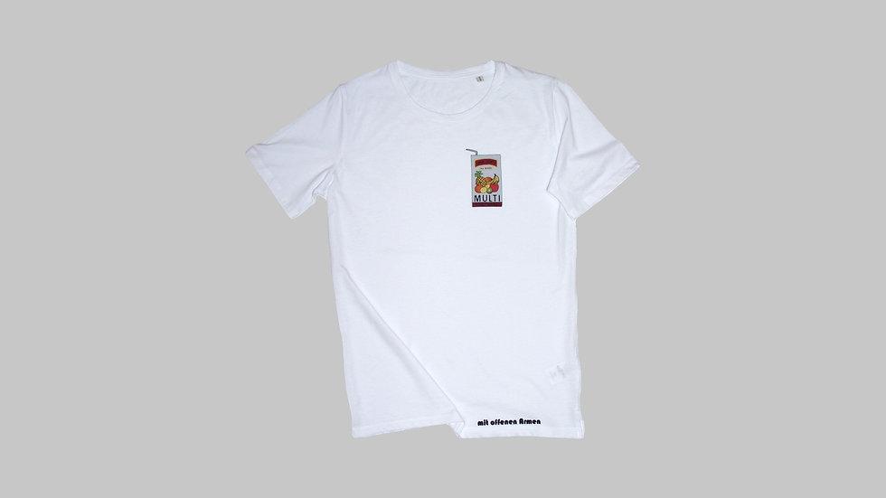 """T-Shirt """"MULTIcultural"""" (Weiß)"""