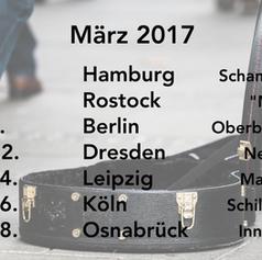 Unsere Tourdaten März 2017