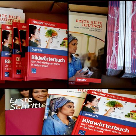 Ein Bücherpaket für die Willkommensinitiative Borgsdorf (Wert: 500€)