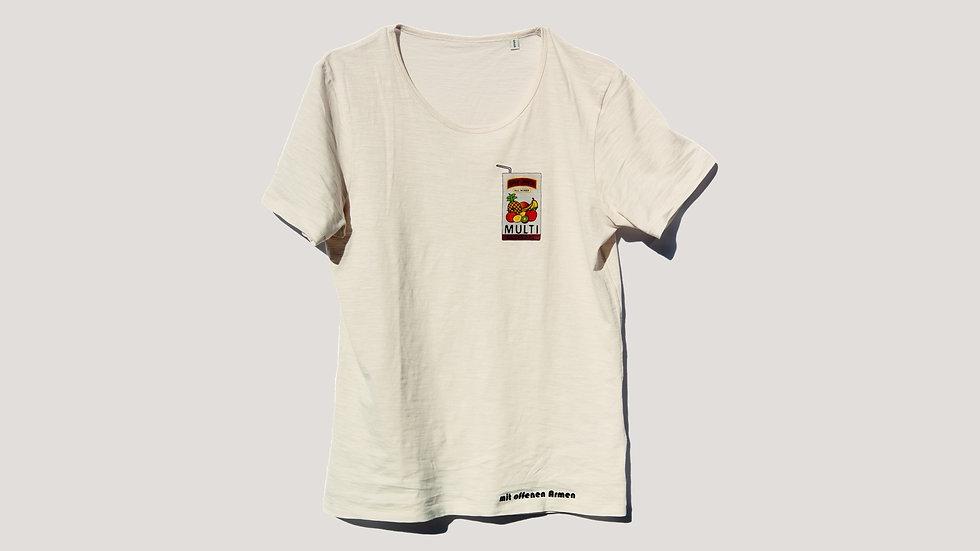 "T-Shirt ""MULTIcultural"" (Vanille Weiß)"