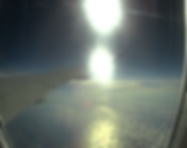 atlantic ocean from airplane