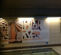 ancient remains in greek metro station