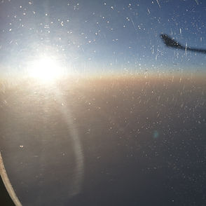 sun from airplane