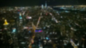 view from empire state building at night