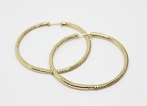 Gold and Diamond Hoops