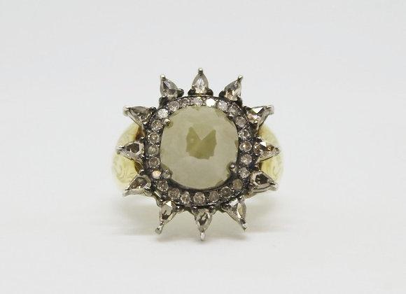 Gold & Silver Sun Ring