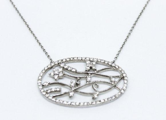 Oval Diamond Necklace Design